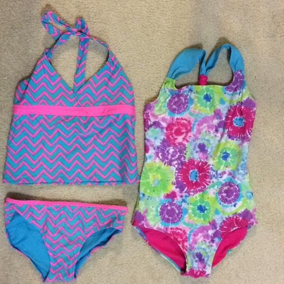 bf1bb421ea09f Xhilaration Swim | Lot Of 3 Girls Suits Size 1012 | Poshmark